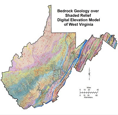 WV geologic map